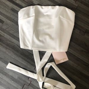 White Crop Top-NWT!